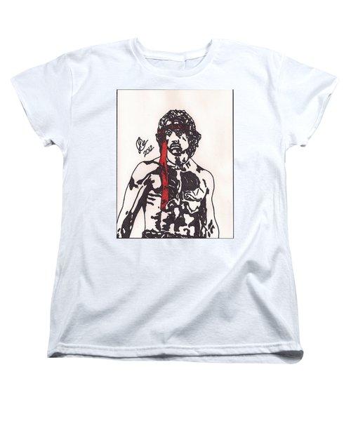 Rambo First Blood Part II Women's T-Shirt (Standard Cut) by Jeremiah Colley