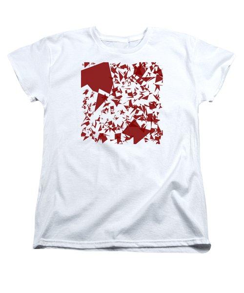 Random Shreds Women's T-Shirt (Standard Cut) by Keshava Shukla