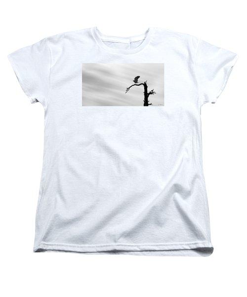 Women's T-Shirt (Standard Cut) featuring the photograph Raptor Silhouette by Joe Bonita