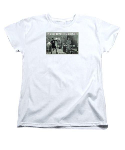 Rare Dr. Jekyll And Mr. Hyde Transformation Poster Women's T-Shirt (Standard Cut) by Carsten Reisinger
