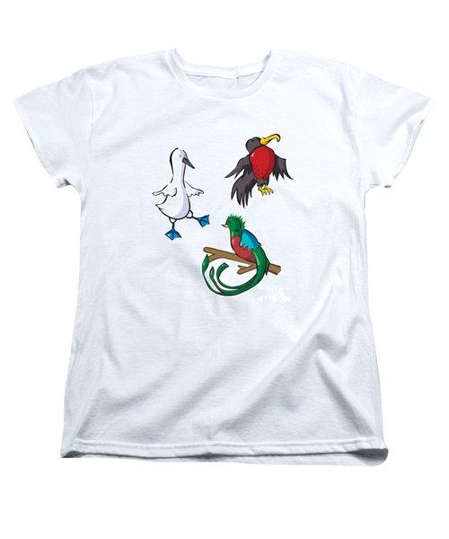 Rare Old Birds Women's T-Shirt (Standard Cut) by Whitney Morton