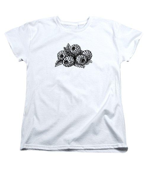 Raspberries Image Women's T-Shirt (Standard Cut) by Irina Sztukowski