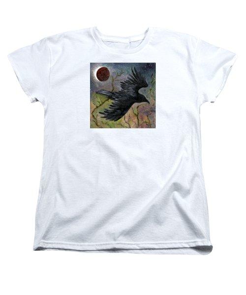 Raven In Twilight Women's T-Shirt (Standard Cut) by FT McKinstry