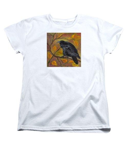 Raven On A Limb Women's T-Shirt (Standard Cut) by FT McKinstry