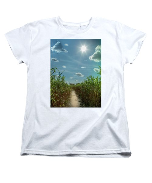 Women's T-Shirt (Standard Cut) featuring the photograph Rays Of Hope by Karen Wiles