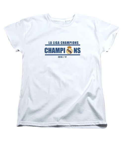 Real Madrid La Liga Champions  Women's T-Shirt (Standard Cut)