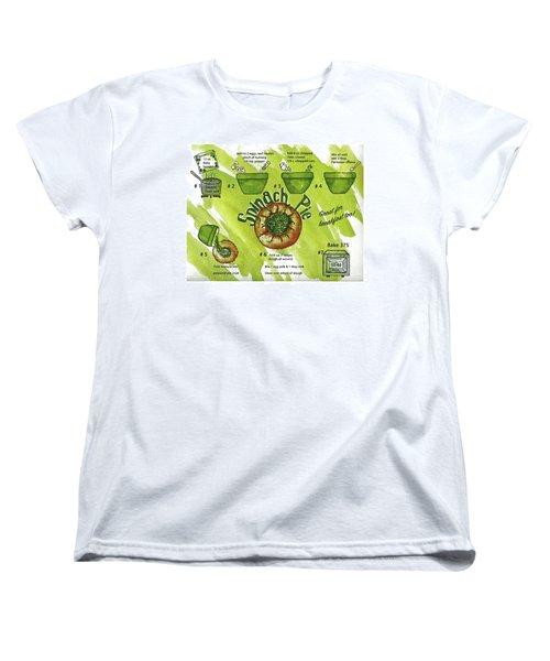 Recipe-spinach Pie Women's T-Shirt (Standard Cut)