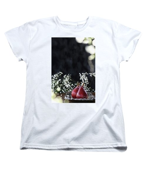 Women's T-Shirt (Standard Cut) featuring the photograph Red Anjou Pears by Stephanie Frey