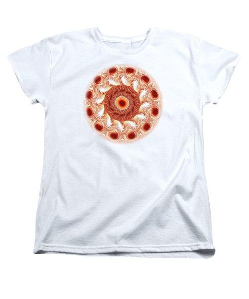 Red Circle Women's T-Shirt (Standard Cut) by Anastasiya Malakhova