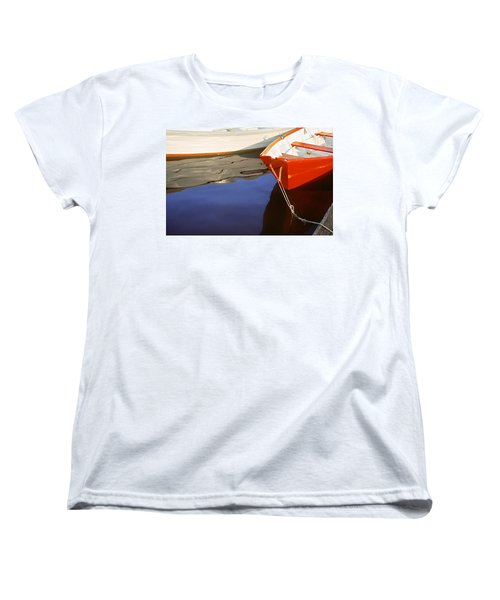Women's T-Shirt (Standard Cut) featuring the photograph Red Dory Photo by Peter J Sucy