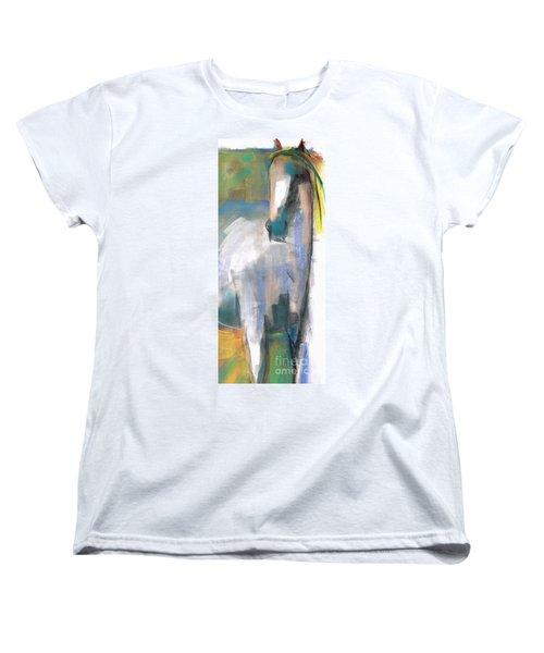 Women's T-Shirt (Standard Cut) featuring the painting Red Ears by Frances Marino