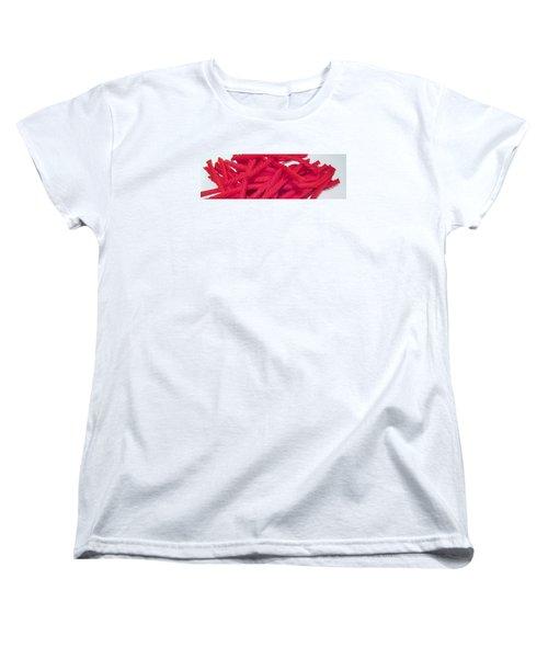Red Licorice  Women's T-Shirt (Standard Cut) by Martin Cline