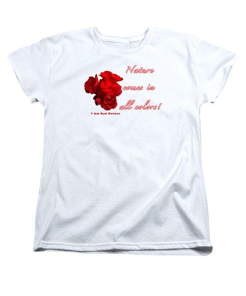 Red Nature Women's T-Shirt (Standard Cut)