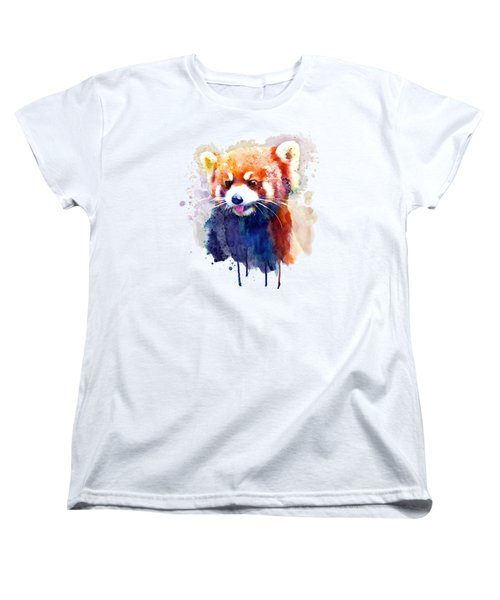 Red Panda Portrait Women's T-Shirt (Standard Fit)