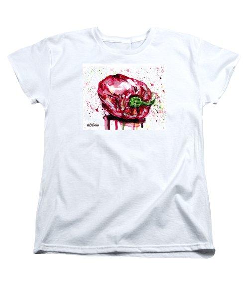 Red Pepper Women's T-Shirt (Standard Cut) by Arleana Holtzmann