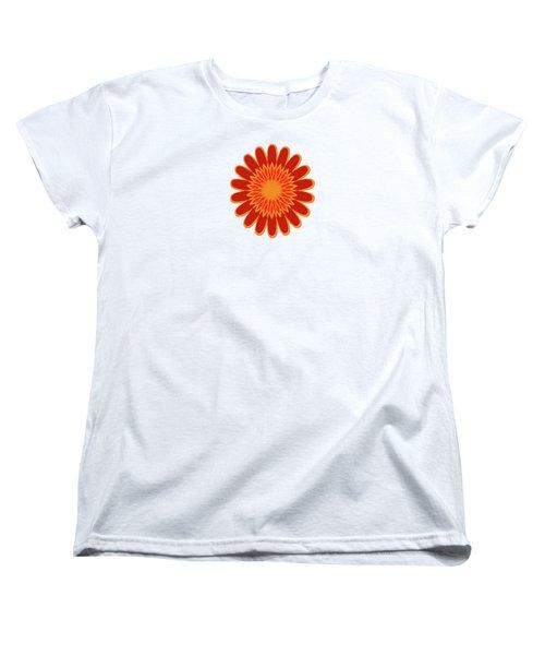 Red Sunflower Pattern Women's T-Shirt (Standard Cut)