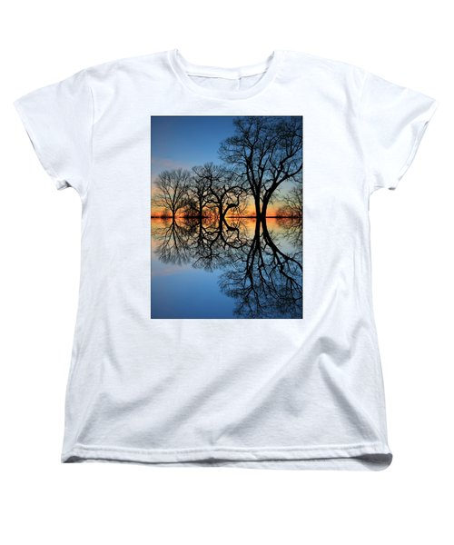 Women's T-Shirt (Standard Cut) featuring the photograph Reflecting On Tonight by Chris Berry