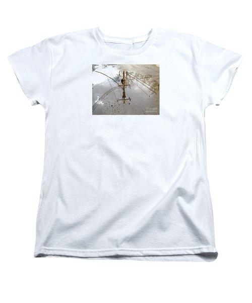 Puddle Reflections  Women's T-Shirt (Standard Cut) by Sandra Church