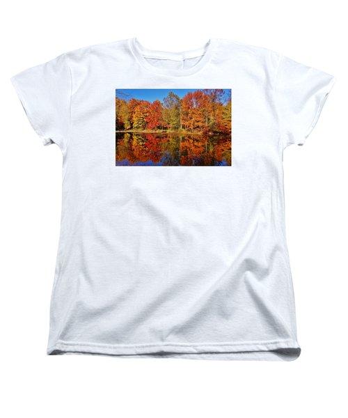 Reflections In Autumn Women's T-Shirt (Standard Cut) by Ed Sweeney