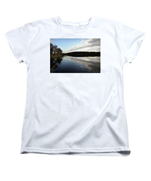 Women's T-Shirt (Standard Cut) featuring the photograph Reflections On The Lake by Chris Berry