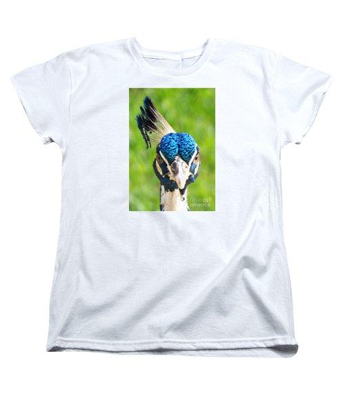 Regal Peacock Women's T-Shirt (Standard Cut) by Audrey Van Tassell