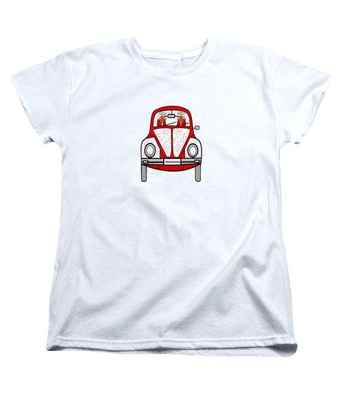 Reindeer Transportation Women's T-Shirt (Standard Cut) by Kathleen Sartoris