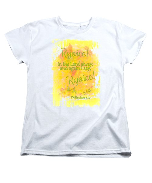 Rejoice Women's T-Shirt (Standard Cut) by Larry Bishop