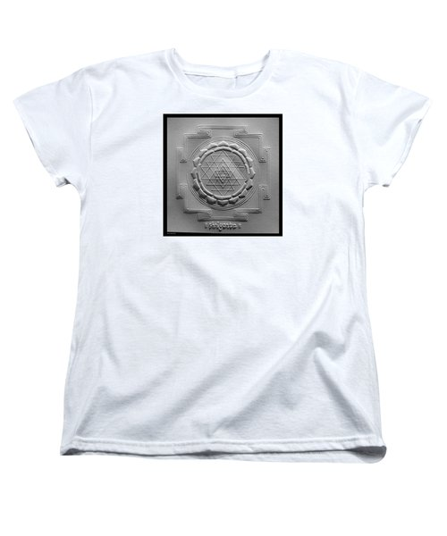 Women's T-Shirt (Standard Cut) featuring the relief Relief Shree Yantra by Suhas Tavkar