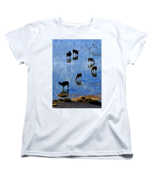 Women's T-Shirt (Standard Cut) featuring the photograph Rendezvous by Skip Hunt