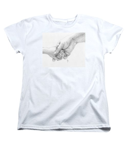 Women's T-Shirt (Standard Cut) featuring the drawing Responsibility by Annemeet Hasidi- van der Leij