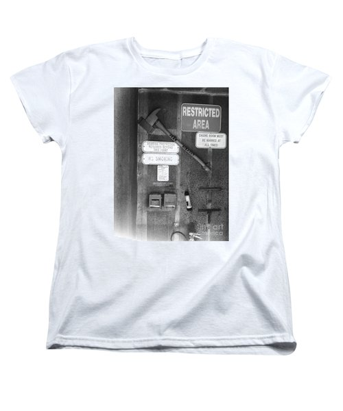 Restricted Area Women's T-Shirt (Standard Cut) by WaLdEmAr BoRrErO