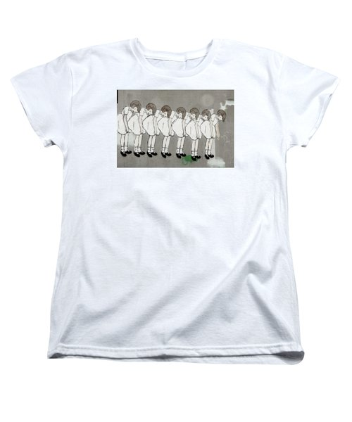 Women's T-Shirt (Standard Cut) featuring the photograph Retro Girl by Art Block Collections