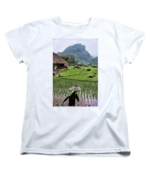 Rice Fields Women's T-Shirt (Standard Cut) by Chuck Kuhn