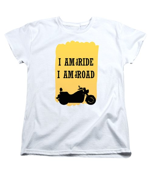Rider Is The Ride Is The Road Women's T-Shirt (Standard Cut) by Keshava Shukla