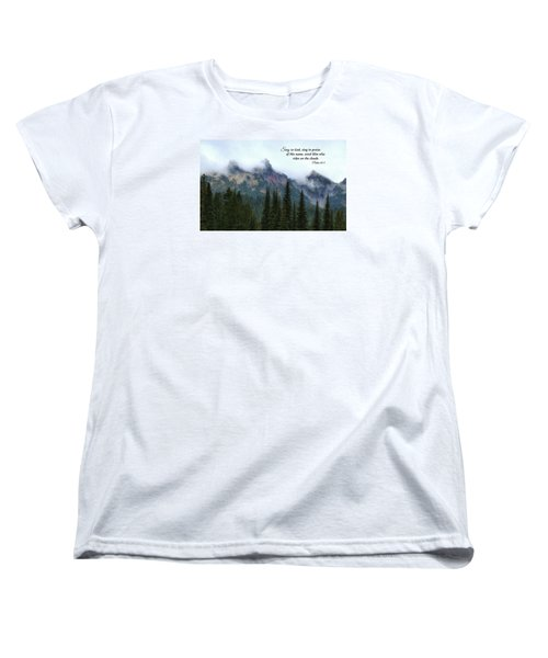 Women's T-Shirt (Standard Cut) featuring the photograph Rides On The Clouds by Lynn Hopwood
