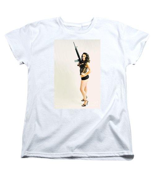 Riding A Colt Women's T-Shirt (Standard Cut) by Robert WK Clark