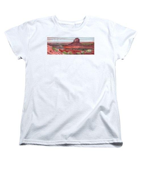 Right Mitten Panorama Women's T-Shirt (Standard Cut) by Donald Maier