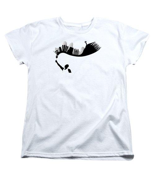Rio De Janeiro Looks Like Flames From Torch Women's T-Shirt (Standard Cut) by Michal Boubin