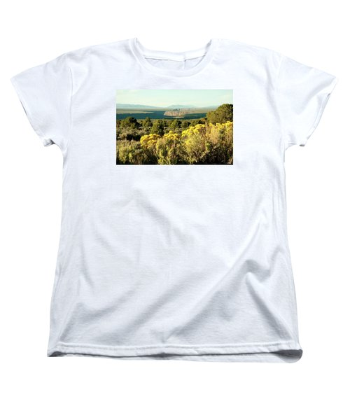 Women's T-Shirt (Standard Cut) featuring the photograph Rio Grande Gorge by Jim Arnold