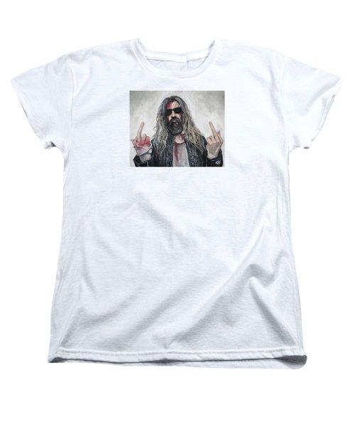 Rob Zombie Women's T-Shirt (Standard Cut) by Tom Carlton