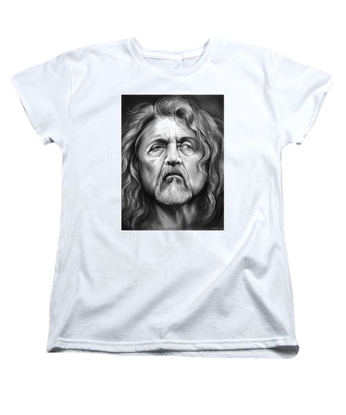 Robert Plant Women's T-Shirt (Standard Cut) by Greg Joens