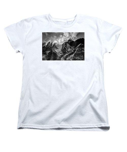 Rock #9542 Bw Version Women's T-Shirt (Standard Cut) by Andrey Godyaykin