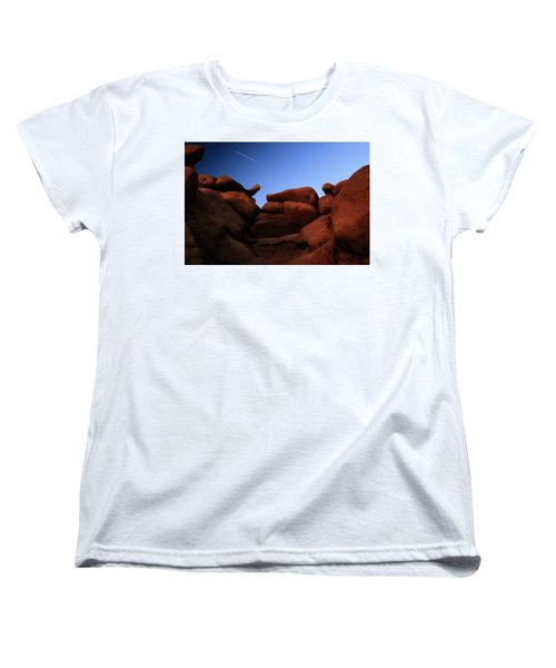 Rocks And Sky At Goblin Valley  Utah Women's T-Shirt (Standard Cut) by Gary Warnimont