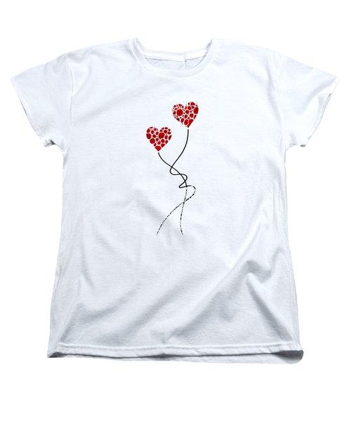 Romantic Art - You Are The One - Sharon Cummings Women's T-Shirt (Standard Cut) by Sharon Cummings