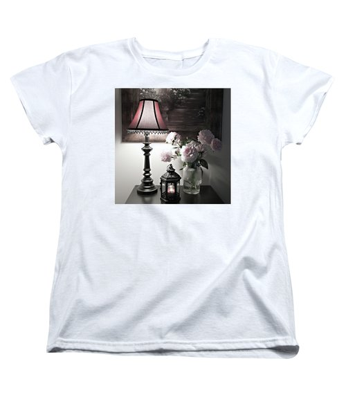 Women's T-Shirt (Standard Cut) featuring the photograph Romantic Nights by Sherry Hallemeier