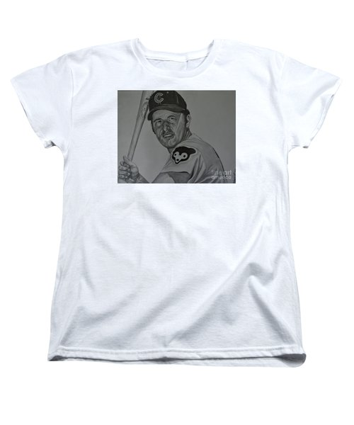 Ron Santo Portrait Women's T-Shirt (Standard Cut) by Melissa Goodrich