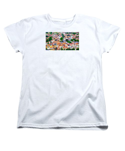 Women's T-Shirt (Standard Cut) featuring the photograph Rooftops by Pravine Chester