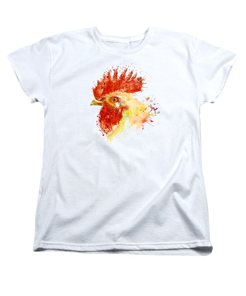Rooster Head Women's T-Shirt (Standard Cut) by Marian Voicu
