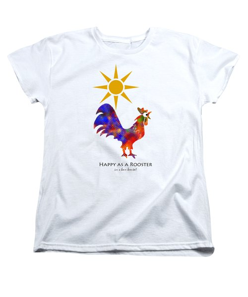 Rooster Pattern Art Women's T-Shirt (Standard Cut) by Christina Rollo