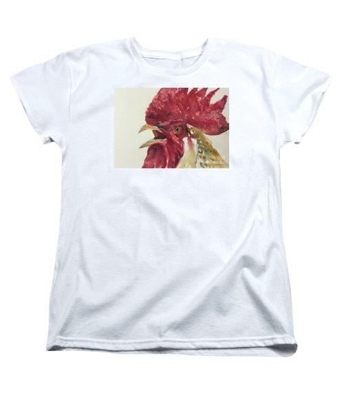 Rooster Women's T-Shirt (Standard Cut) by Yoshiko Mishina